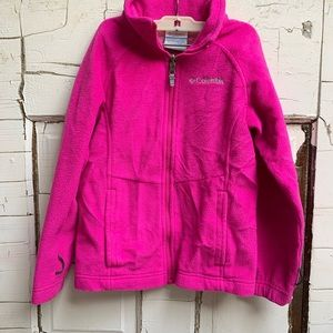 Columbia pink zip up fleece Omni heat warm Small